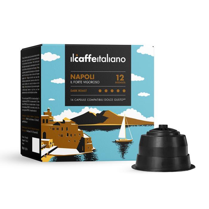 Immagine che raffigura le capsule compatibili Dolce Gusto ®,aroma napoli,dcnap96,immagine 1