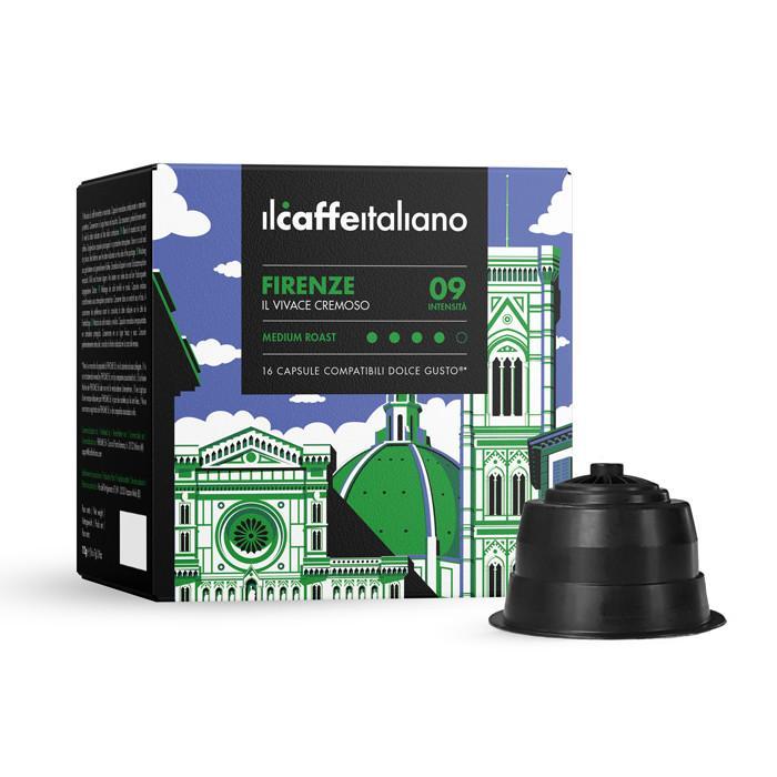 Immagine che raffigura le capsule compatibili Dolce Gusto ®,aroma firenze,dcfir96,immagine 1