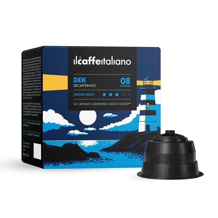 Immagine che raffigura le capsule compatibili Dolce Gusto ®,aroma decaffeinato,dcdek96,immagine 1