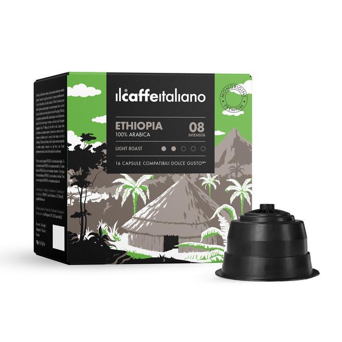 Immagine che raffigura le capsule compatibili Dolce Gusto ®,aroma ethiopia,dceti96,immagine 1
